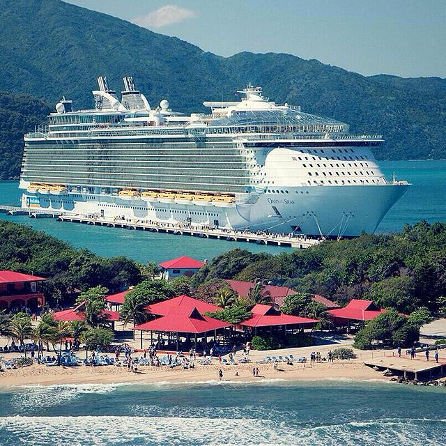 A cruise ship in Haiti
