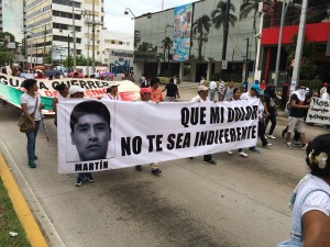 Protest over disappeared students